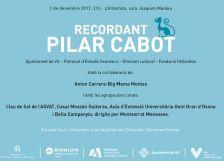 Recordant Pilar Cabot